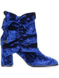 бархатные ботинки по щиколотку MSGM