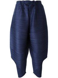 объемные укороченные брюки в рубчик Pleats Please By Issey Miyake