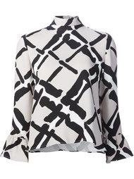 блузка с расклешенными рукавами Derek Lam