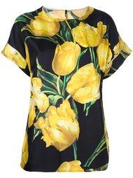 блузка с принтом тюльпанов  Dolce & Gabbana