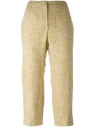 укороченные твидовые брюки Chanel Vintage