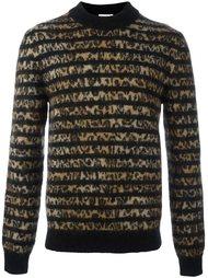 свитер с контрастными панелями Saint Laurent
