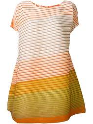 объемное платье в рубчик с короткими рукавами Pleats Please By Issey Miyake