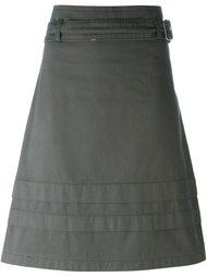 юбка А-образного силуэта с поясом Romeo Gigli Vintage