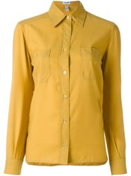 рубашка с нагрудным карманом Céline Vintage