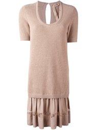 платье-свитер в рубчик  Nº21