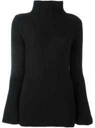 свитер-водолазка в рубчик  Moncler