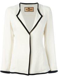 пиджак с контрастной окантовкой Etro