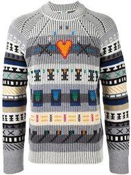 свитер с узором  Kenzo