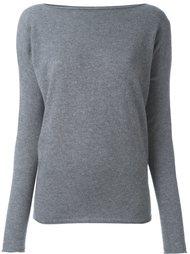 свитер с вырезом-лодочкой  Roberto Collina