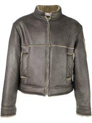 укороченная куртка с кожаным эффектом Gosha Rubchinskiy