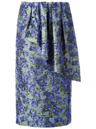 драпированная юбка с цветочным узором Jourden