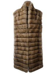 пальто из соболиного меха без рукавов Liska