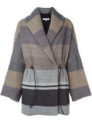 пальто свободного кроя с полосатым узором Iro