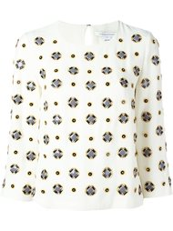 блузка с геометрическим узором Diane Von Furstenberg