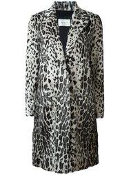 пальто с леопардовым принтом   Yves Salomon