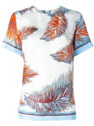 футболка с принтом перьев  Emilio Pucci