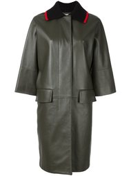 объемное пальто с воротником в рубчик Marni