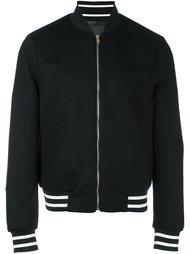 куртка-бомбер с контрастной окантовкой  Paul Smith London