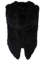 куртка из кроличьего меха без рукавов Yves Salomon