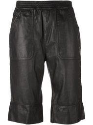 укороченные кожаные брюки Diesel Black Gold
