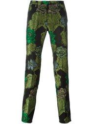 брюки с цветочным принтом   Christian Pellizzari