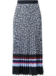 плиссированная юбка с комбинированным узором Mother Of Pearl