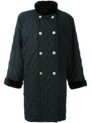 пальто с шерстяным воротником  Yves Saint Laurent Vintage