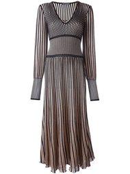вязаное платье в полоску  Alexander McQueen