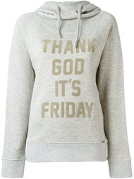 толстовка с капюшоном 'Thank God It's Friday' Woolrich