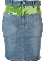 panelled denim skirt Jeremy Scott