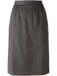 юбка в полоску  Yves Saint Laurent Vintage