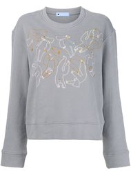 embroidered detail sweatshirt Minjukim