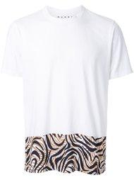 футболка с контрастным подолом  Marni