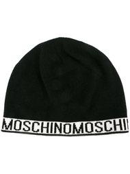 шапка-бини с логотипом  Moschino