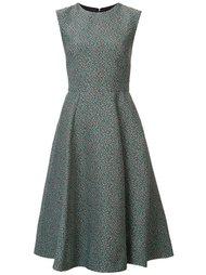 micro check pattern dress Monique Lhuillier