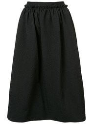 textured midi skirt Monique Lhuillier
