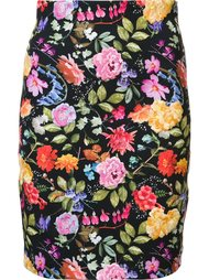 floral embroidery skirt Nicole Miller