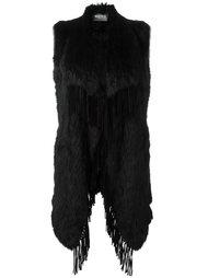 длинная жилетка с бахромой Meteo By Yves Salomon