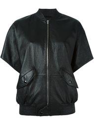 куртка-бомбер с короткими рукавами Saint Laurent