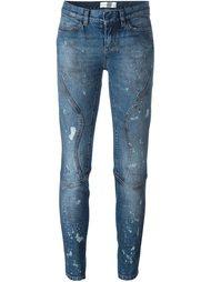 джинсы с потертой отделкой Faith Connexion