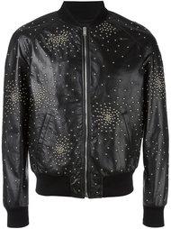 куртка-бомбер с заклепками  Saint Laurent