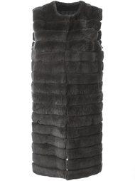 меховое пальто без рукавов Meteo By Yves Salomon
