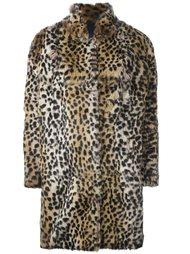 пальто с леопардовым узором Meteo By Yves Salomon