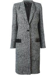 пальто с узором в елочку Barbara Bui