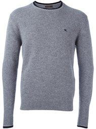 свитер с контрастной окантовкой  Etro