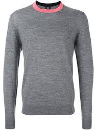 свитер с контрастной горловиной Paul By Paul Smith