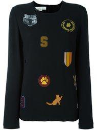 блузка с нашивками  Stella McCartney