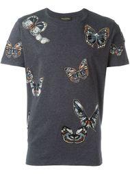 футболка с вышивкой в виде бабочек Valentino