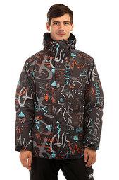 Куртка утепленная Quiksilver Mission Print Hieline Blue